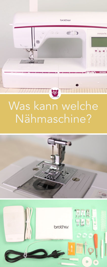 [Werbung] Was kann man von einer Nähmaschine zu welchem Preis erwarten? Ich vergleiche für euch drei Nähmaschinen in Kooperation mit Ahrtal. Nastjas Nähtipps - DIY Eule. Welche Nähmaschine kaufen?