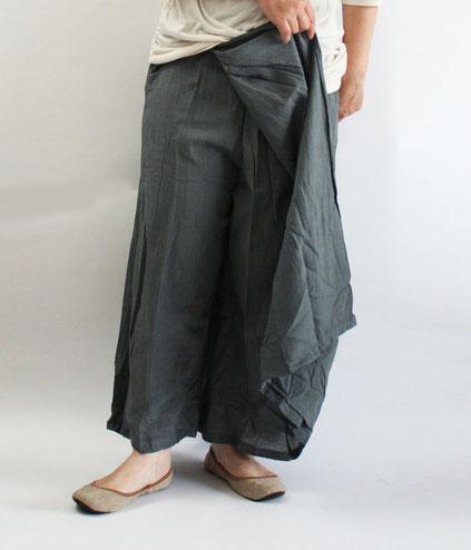 ヂェン先生の日常着 スカートパンツ グレー