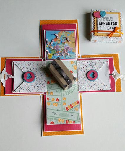stempelliese.com # Explosionsbox # Überraschungsbox zum 18. Geburtstag # Stampin`Up! # Stempel