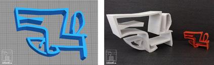 Auftrags 3D-Druck Beispiel chimaumau