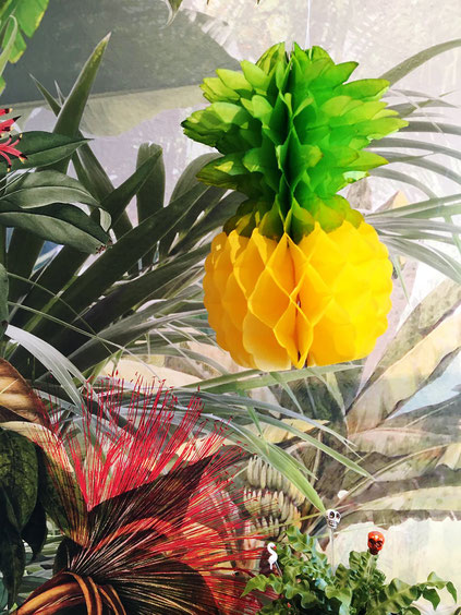 papier-ananas-tropical-deko-mexikanische-fiesta
