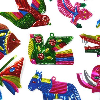 mexikanische-deko-blech-anhänger-tiere