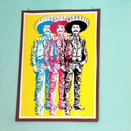 kunstdruck-emiliano-zapata-mexican-art