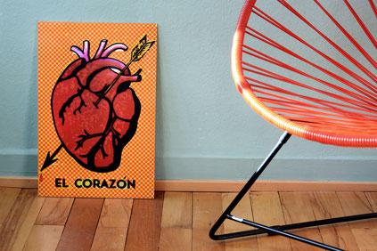 mexikanisches-loteria-corazon-poster