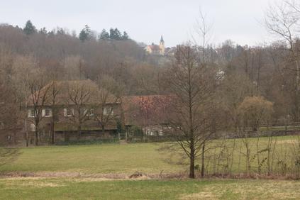 Albtal - Blick auf die Kochmühle bei Neurod (Mühlenbetrieb bis 1976) (G. Franke, 13.03.2016)