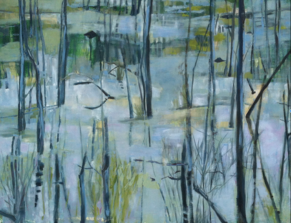 Moor 170 x 130 Acryl auf Leinwand