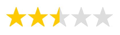 2,5 Sterne Bewertung für Euphrasia D3 (Abbildung)