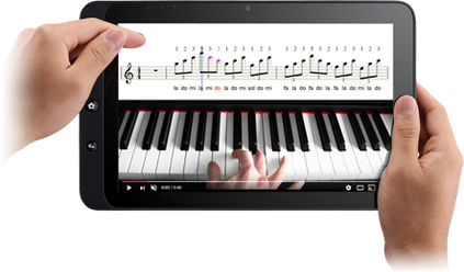 vidéo piano ipad