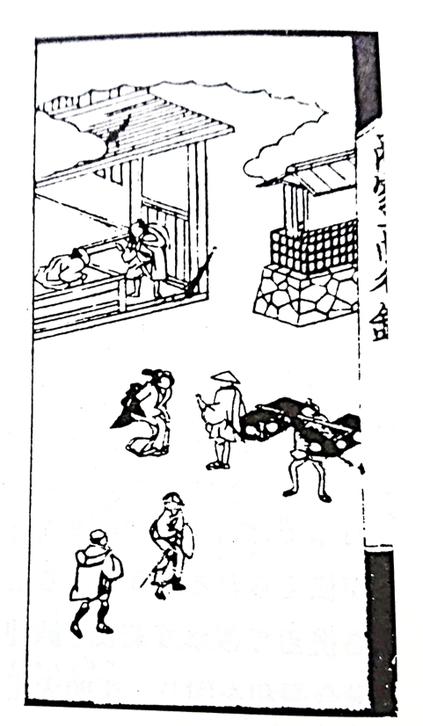 「田村本陣前高札場」 ※『本庄の歴史と城山稲荷神社』本庄市本町(P28)より