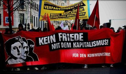 Den venstreradikale, autonome antifa-blok