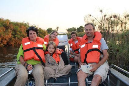 Promenade dans le delta de l'Okavango
