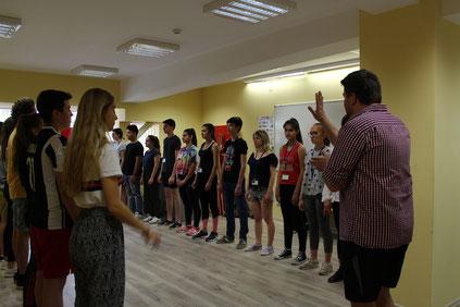 Atelier de théâtre avec les jeunes de Bulgarie, avril 2018