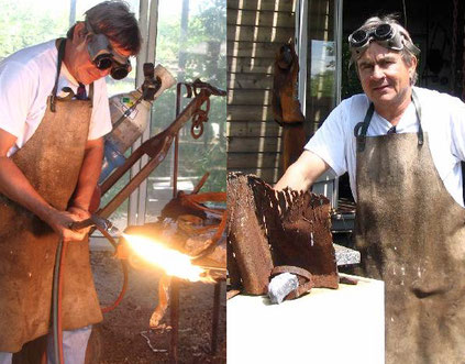 Jacky Cognolato sculpteur inox acier galerie Espace Pralong