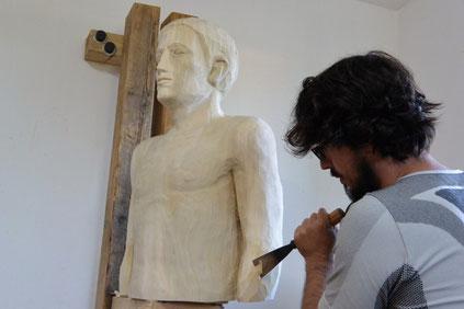 Bildhauer Reinhard Kofler