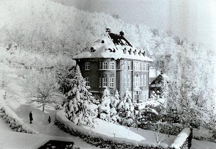 Die Villa im Winter 1938