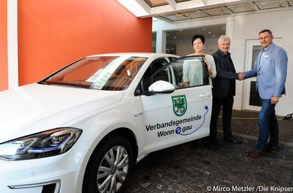 Die VG Wonnegau nimmt mit dem neuen E-Auto eine Vorreiterrolle ein.