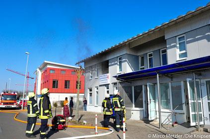 Feuer am Freitagnachmittag (23.02.2018) im ehemaligen Printhaus.