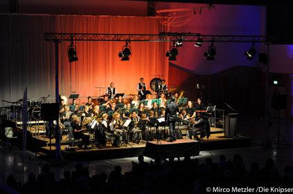 Bei dem Konzert begeisterte das Wonnegauer Blasorchester etwa 400 Leute.