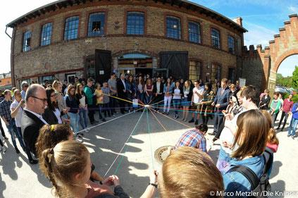 Rund ca. 190 Schülerinnen und Schüler sowie Lehrer waren in der KZ Gedenkstätte Osthofen.