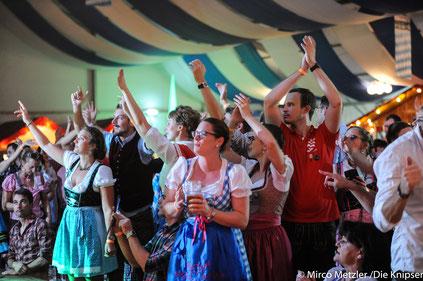 Auf dem Wormser Oktoberfest waren wieder tausende begeisterte Leute.