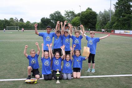 Die Kinder der Seebachschule holten erneut den Sieg beim Kreisjugendsportfest in Westhofen. Foto: S. Klehr