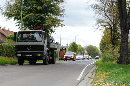 Durch das geplante Gewerbegebiet zwischen Osthofen und Westhofen wird der LKW-Verkehr durch Osthofen zur B9 wohl noch stärker zunehmen.