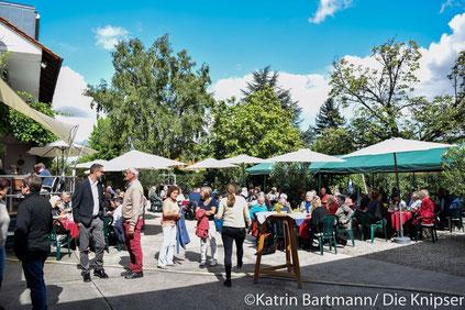 Beim 23. Weinerlebnistag im Weingut Grittmann waren etwa 200 Gäste gekommen.