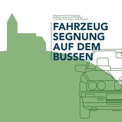 Fahrzeugsegnung auf dem Bussen