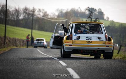 Renault 5 Turbo au depart