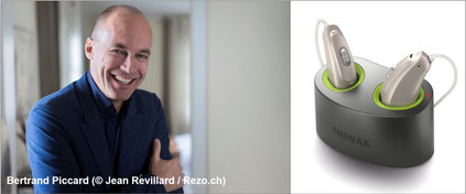 Bertrand Piccard trägt Phonak Hörgeräte