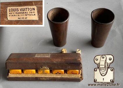 Ecrin à dés Louis Vuitton  Vers 1960