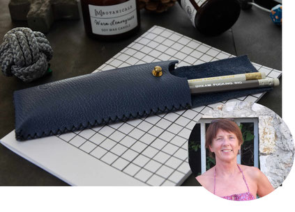 Handmade Leather Pencil Case By YolaWalaszek, featured in the PASiNGA curated Christmas artisan gift guide
