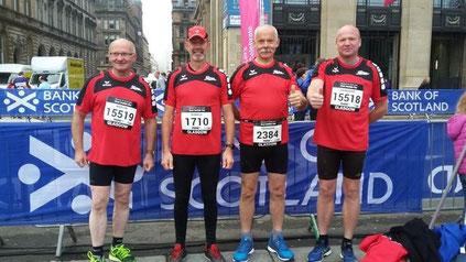 (von links nach rechts: Martin Gärtner, Ronald Baxter, Hermann Strunk, Rainhard Hanfland)