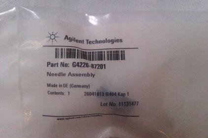 Agilent Technologies Needle Assembly Part No: G4226-87201