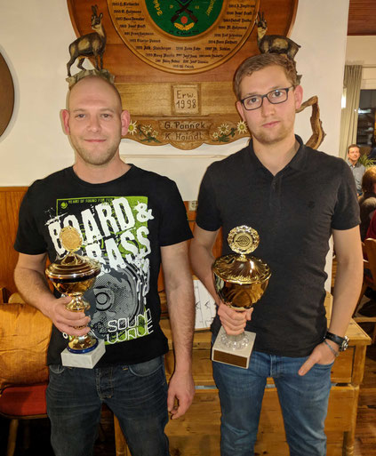 Links: Bernhard Haller (U45 Pokal) Rechts: Dominik Portz (U30 Pokal)