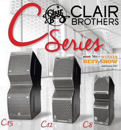 Clair Brothers - Beschallung Line-Arrays C8, C10, C12, C15