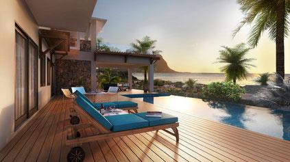 Les VILLAS D'HESTIA nouveau programme immobilier PDS RES PLANTATION MARGUERY à RIVIERE NOIRE ILE MAURICE