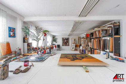 Blick in mein Atelier in Berlin-Pankow, (c) ARTprotect