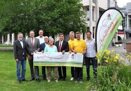 Die Bündnispartner: Stadt Aschaffenburg, LBV-Kreisgruppe Aschaffenburg und die Imker von AB-Damm