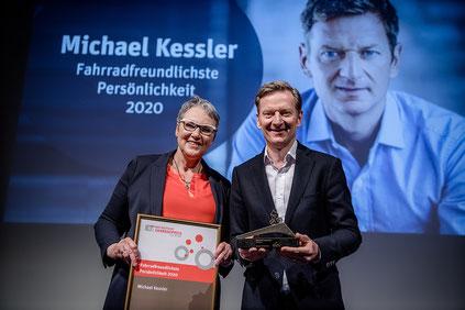 Fahrradfreundlichste Persönlichkeit 2020: Michael Kessler ©Andreas Erdmann