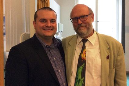 Brian Fröhlich, Dr. Peter Moest von der Beuth Hochschule für Technik Berlin