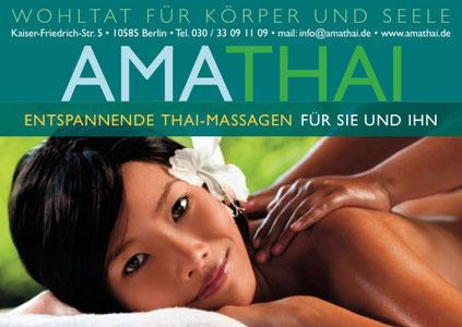 www.amathai.net Thaimassage Berlin Charlottenburg Nähe Schloss