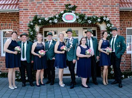 2019/2020  König Guido Wilmink, Königin Sylke Theismann mit Throngefolge