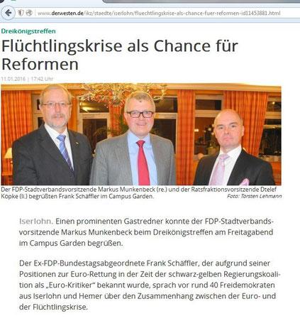 Bericht   Dreikönigstreffen 2016, IKZ-online