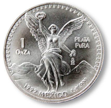 Siegesgöttin aus Mexiko - eine Feinunze Silber .999