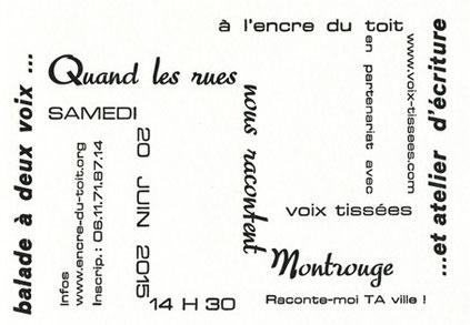 Carte imprimée par Denis MASSON - Typographe