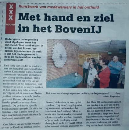 Artikel in stadskrant Echo van Amsterdam Noord