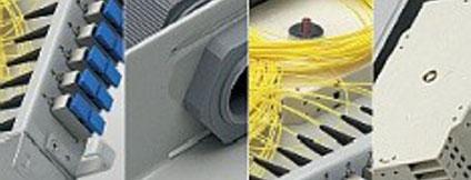 LWL-Spleissboxen, Kabelreserve, Glasfasern, Multimode, Singlemode, Siebdruck