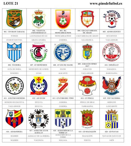 lote pin escudos insignias futbol