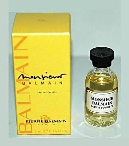 MONSIEUR BALMAIN -EAU DE TOILETTE 5 ML - BOÎTE DIFFERENTE DE LA PRECEDENTE PHOTO